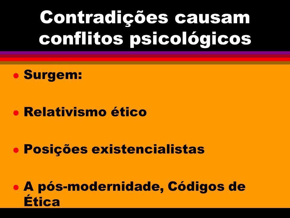 Contradições causam conflitos psicológicos