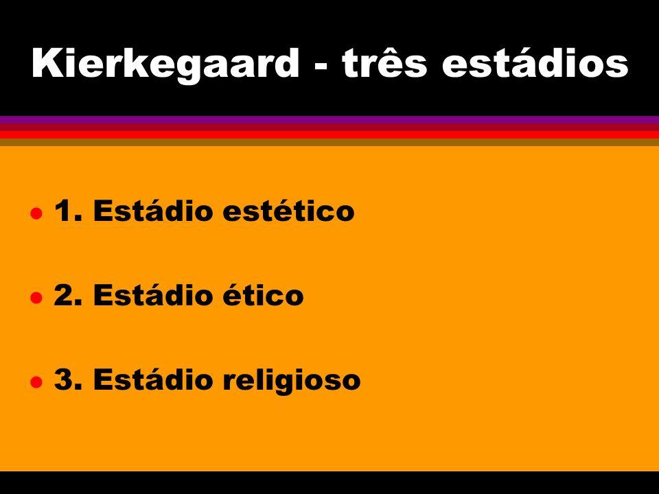Kierkegaard - três estádios