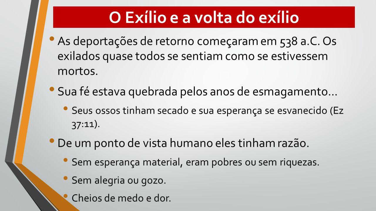 O Exílio e a volta do exílio