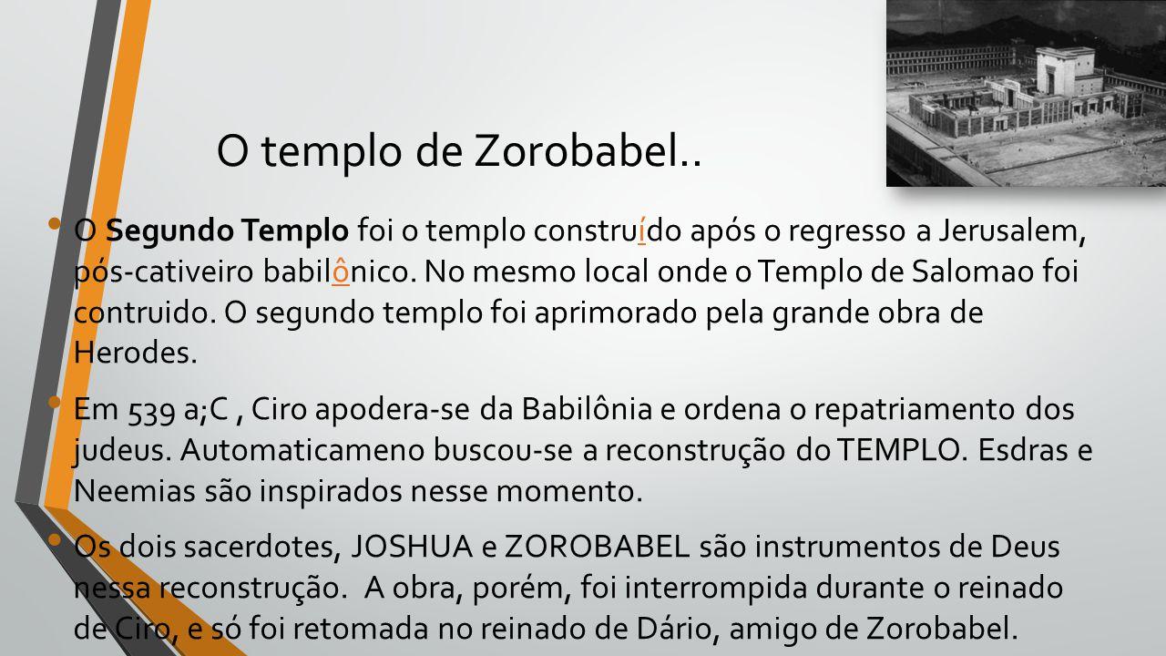O templo de Zorobabel..
