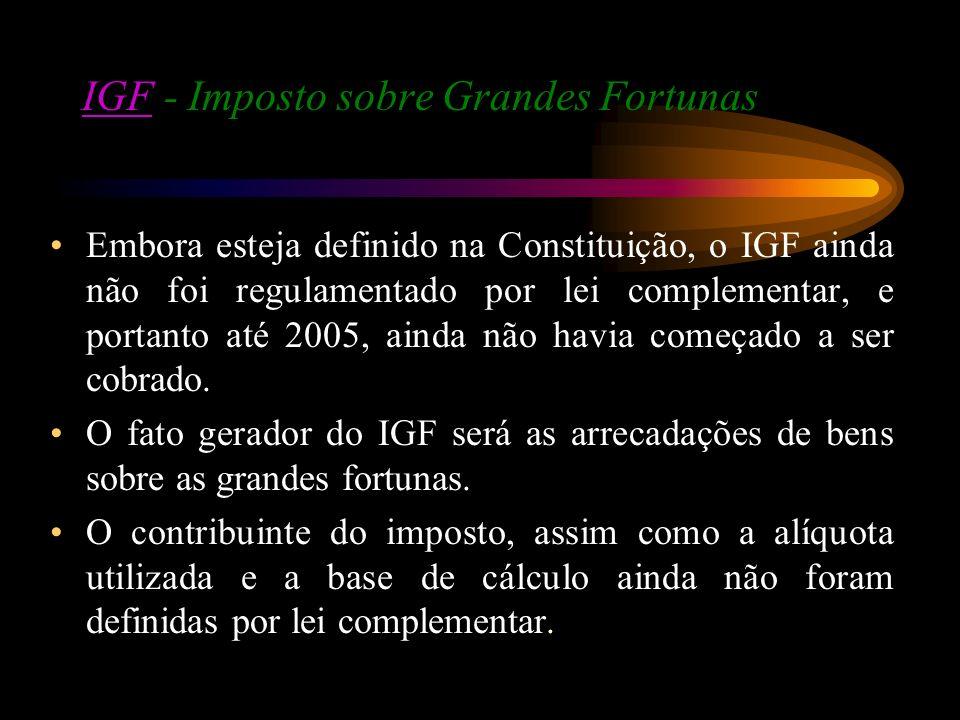 IGF - Imposto sobre Grandes Fortunas