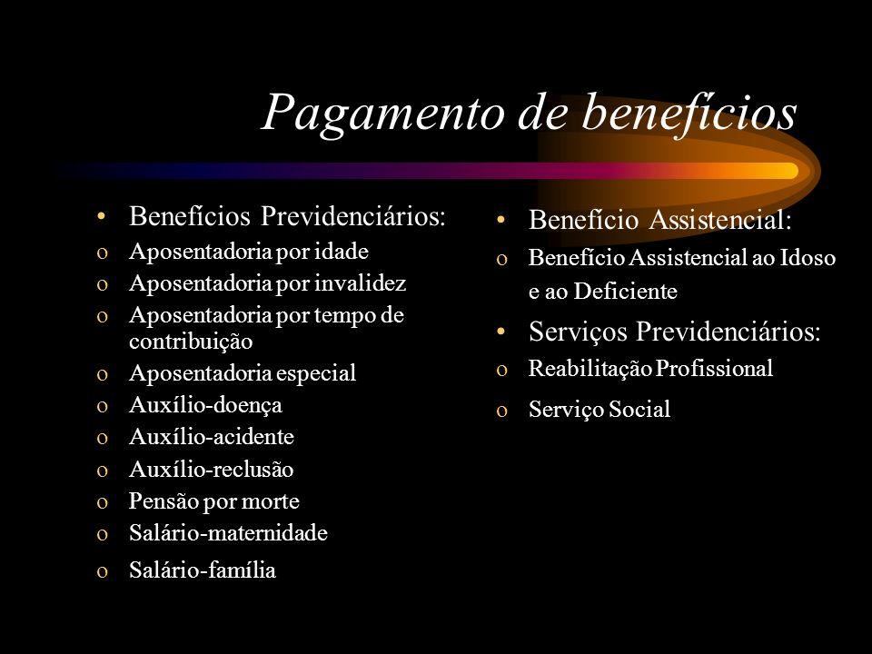 Pagamento de benefícios