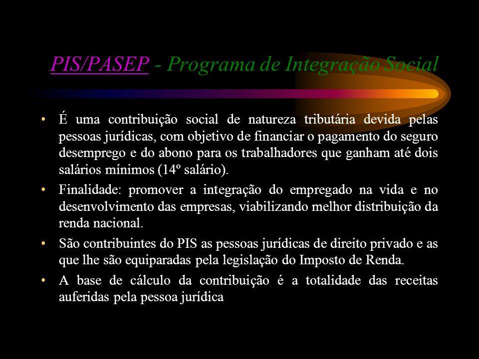PIS/PASEP - Programa de Integração Social