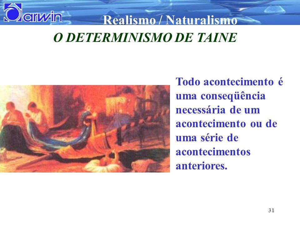 O DETERMINISMO DE TAINE