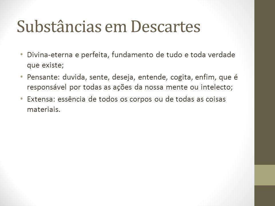 Substâncias em Descartes