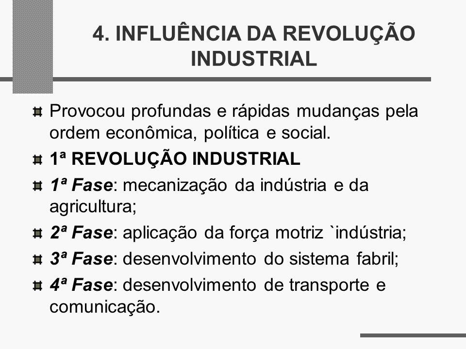 4. INFLUÊNCIA DA REVOLUÇÃO INDUSTRIAL