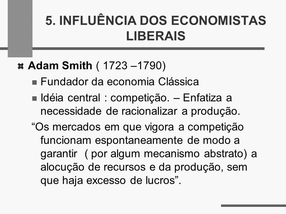 5. INFLUÊNCIA DOS ECONOMISTAS LIBERAIS