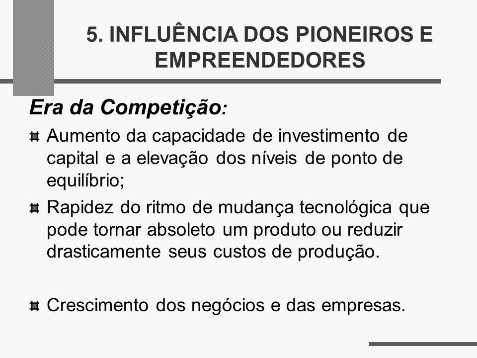 5. INFLUÊNCIA DOS PIONEIROS E EMPREENDEDORES