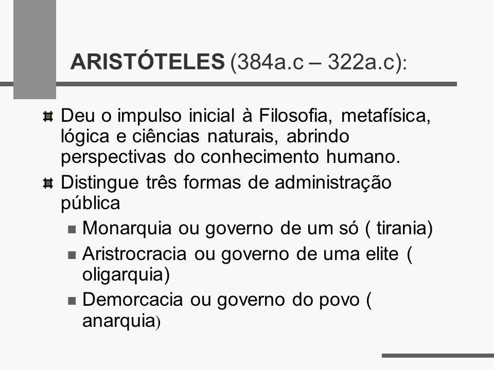 ARISTÓTELES (384a.c – 322a.c):