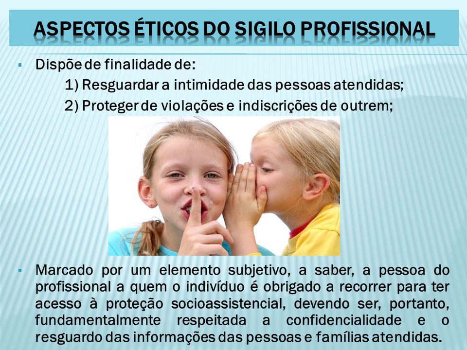 ASPECTOS ÉTICOS DO SIGILO PROFISSIONAL