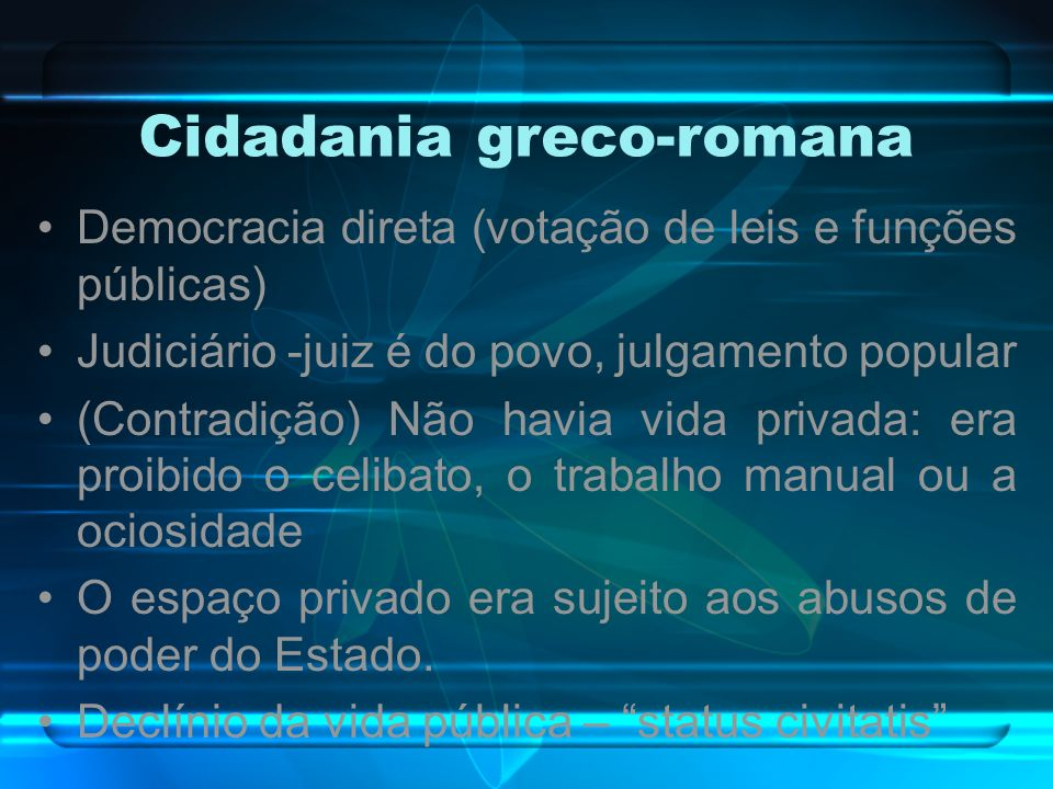 Cidadania greco-romana