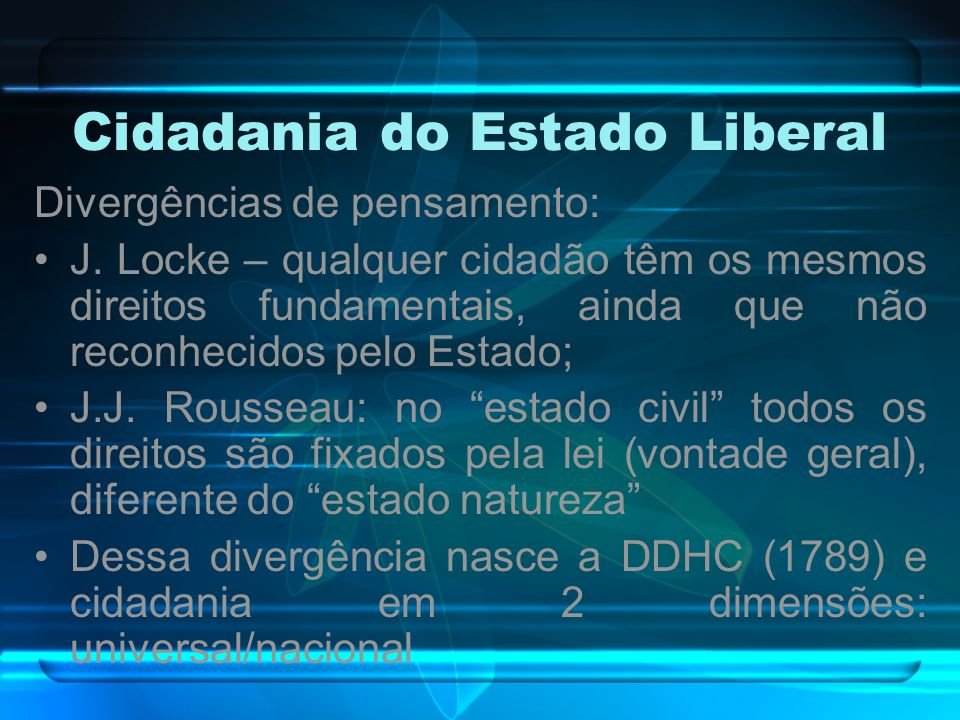 Cidadania do Estado Liberal