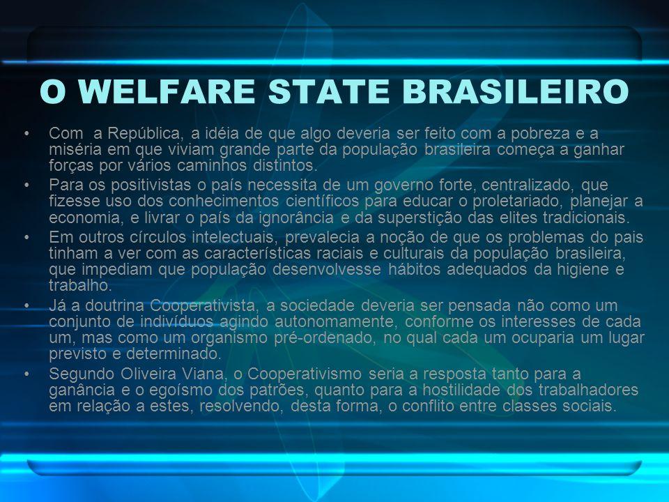 O WELFARE STATE BRASILEIRO