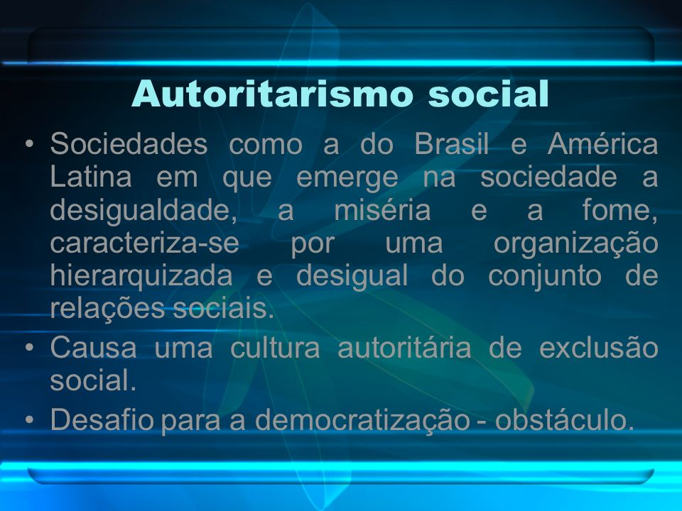 Autoritarismo social