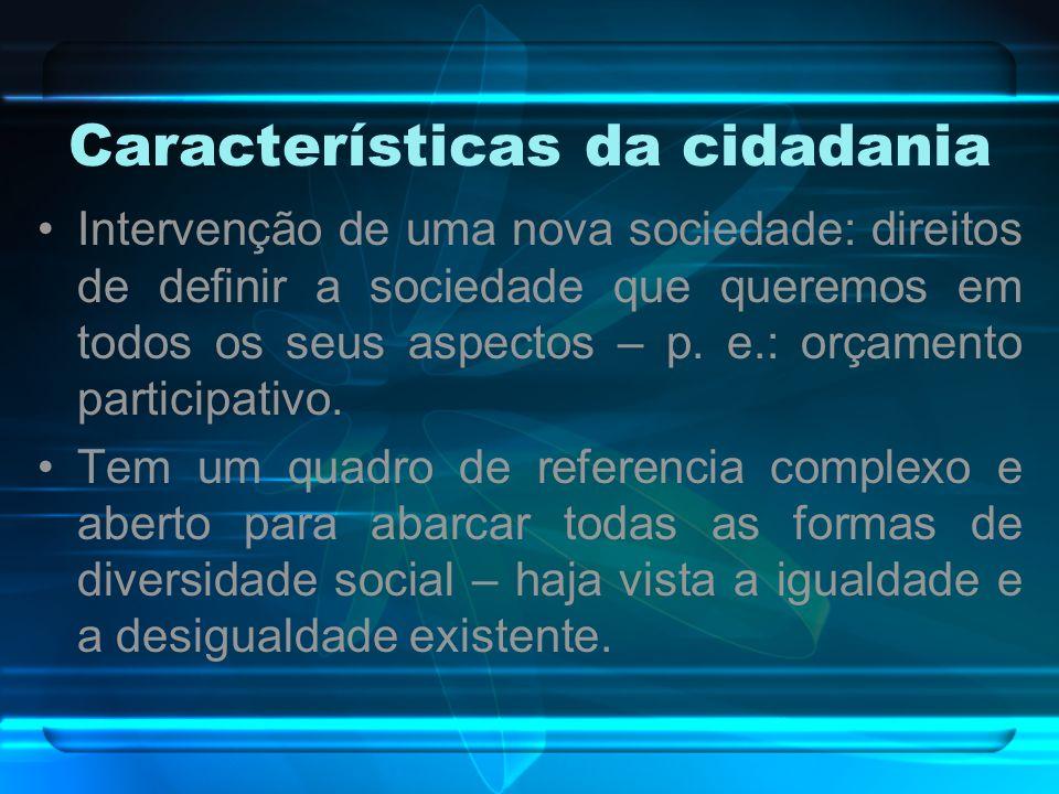 Características da cidadania