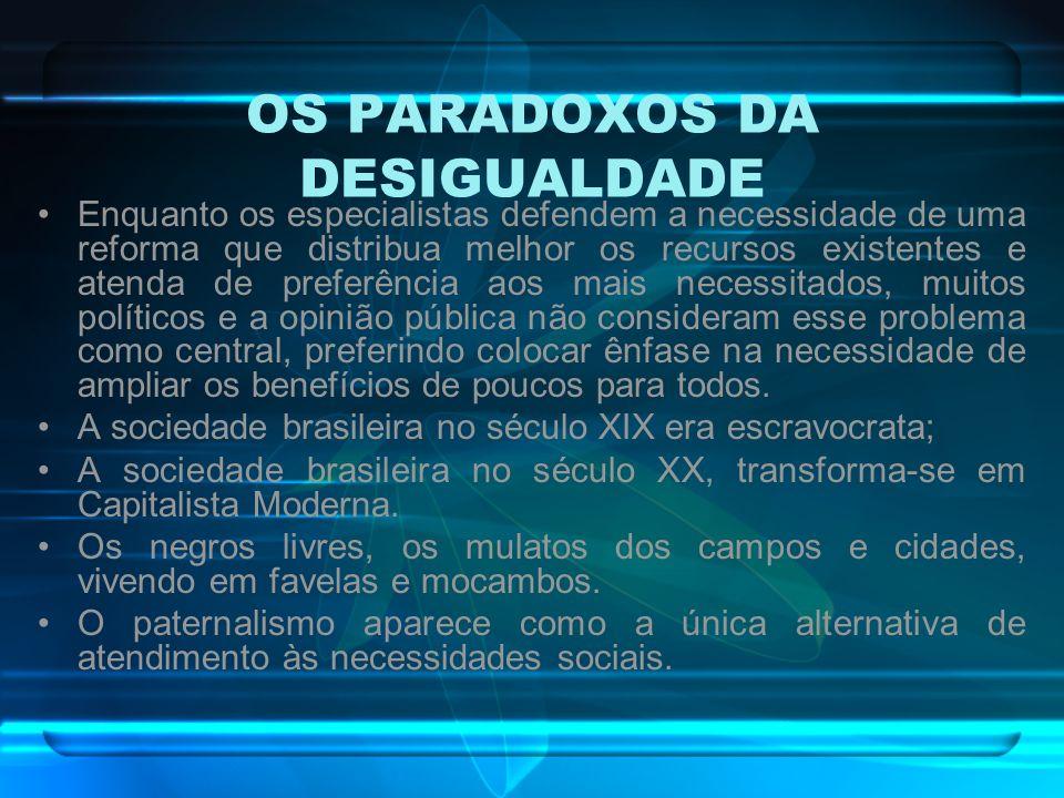 OS PARADOXOS DA DESIGUALDADE