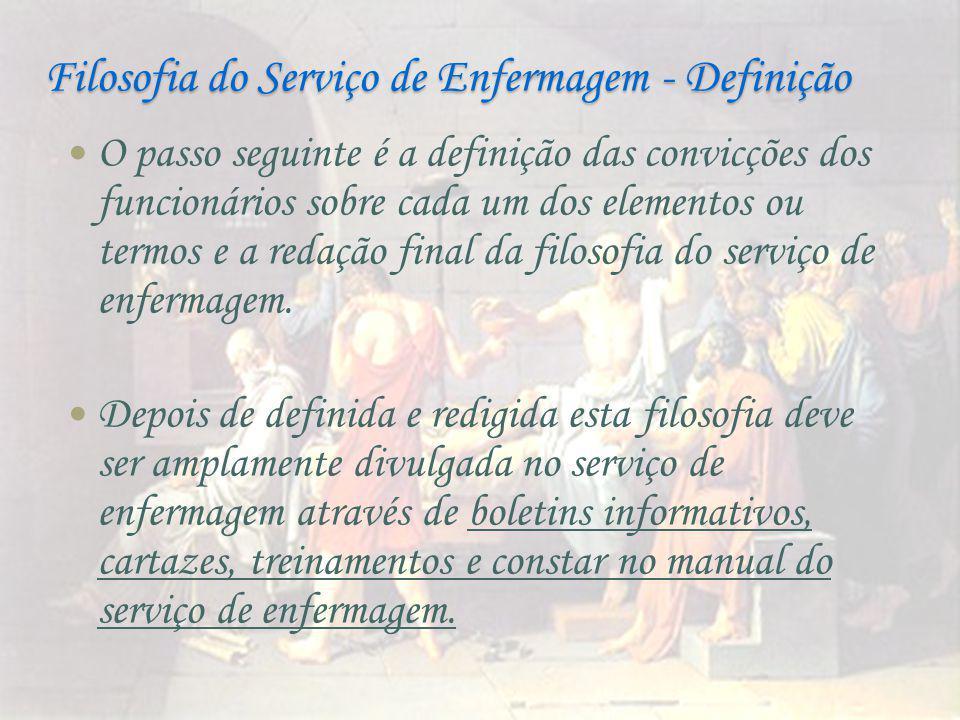 Filosofia do Serviço de Enfermagem - Definição