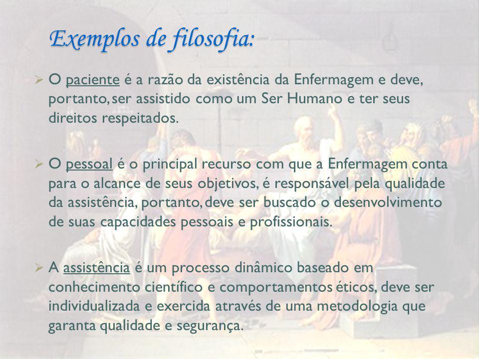 Exemplos de filosofia: