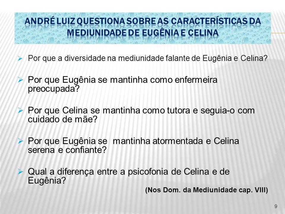 ANDRÉ LUIZ QUESTIONA SOBRE AS CARACTERÍSTICAS DA MEDIUNIDADE DE EUGÊNIA E CELINA