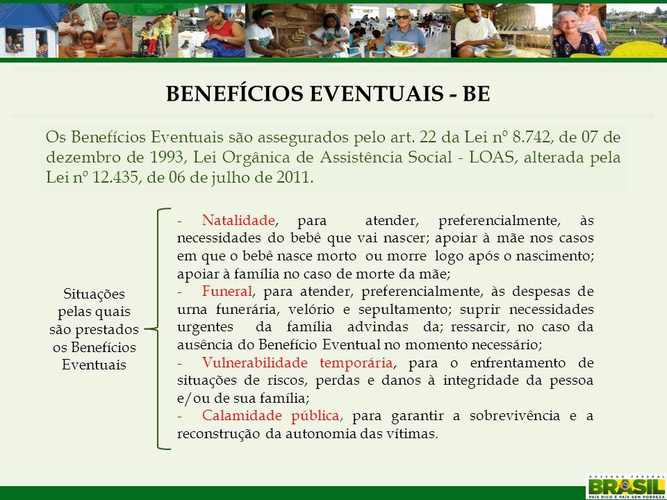 BENEFÍCIOS EVENTUAIS - BE