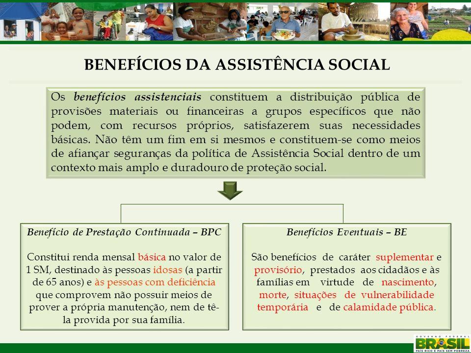 BENEFÍCIOS DA ASSISTÊNCIA SOCIAL