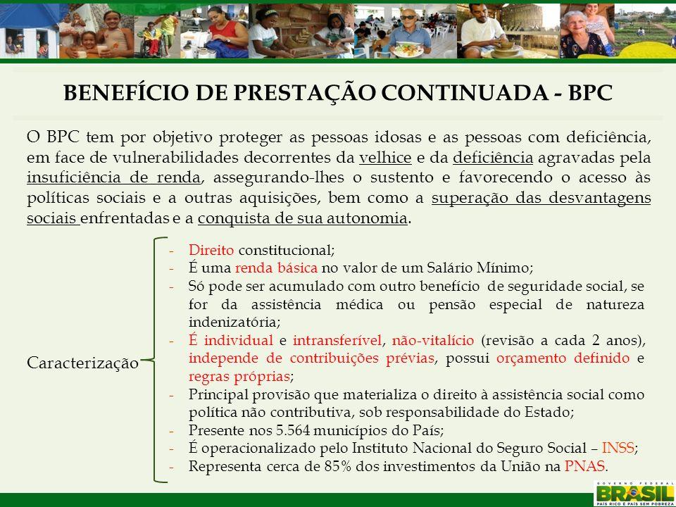 BENEFÍCIO DE PRESTAÇÃO CONTINUADA - BPC