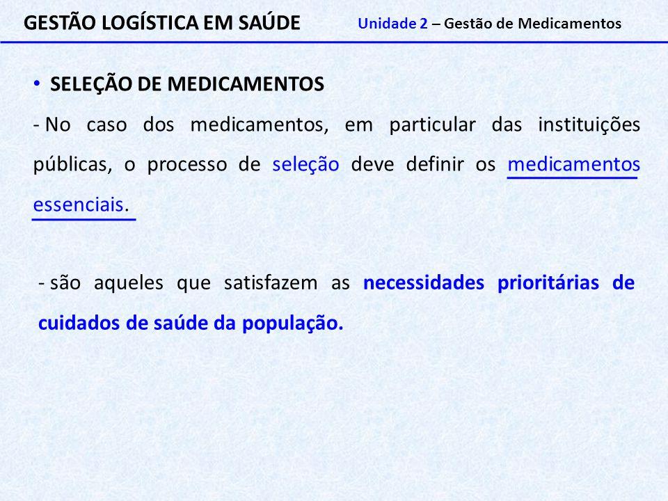 GESTÃO LOGÍSTICA EM SAÚDE