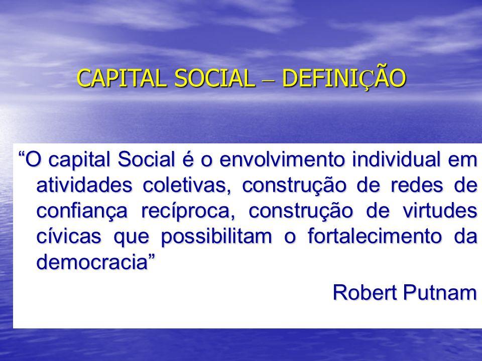 CAPITAL SOCIAL – DEFINIÇÃO