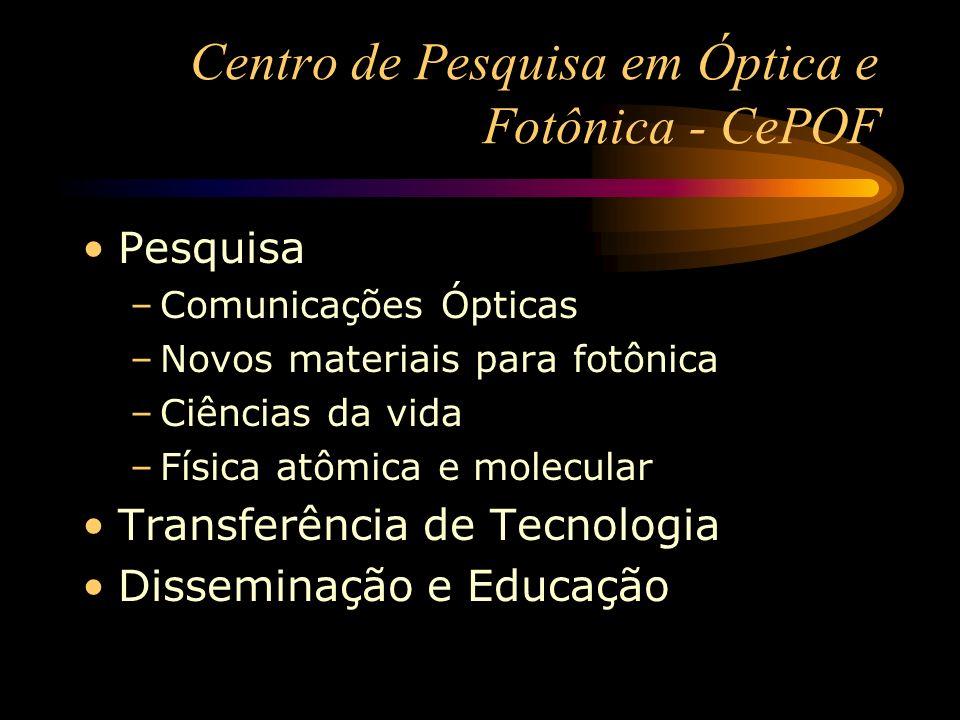 Centro de Pesquisa em Óptica e Fotônica - CePOF