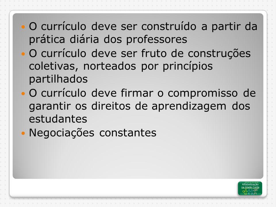 O currículo deve ser construído a partir da prática diária dos professores
