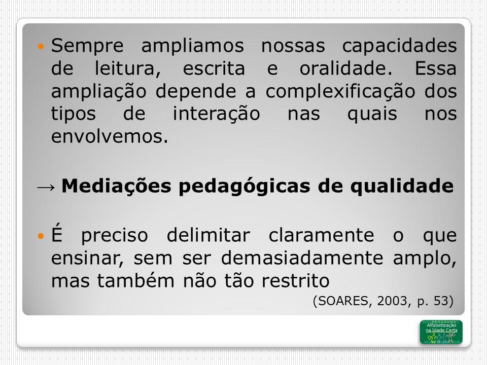 → Mediações pedagógicas de qualidade