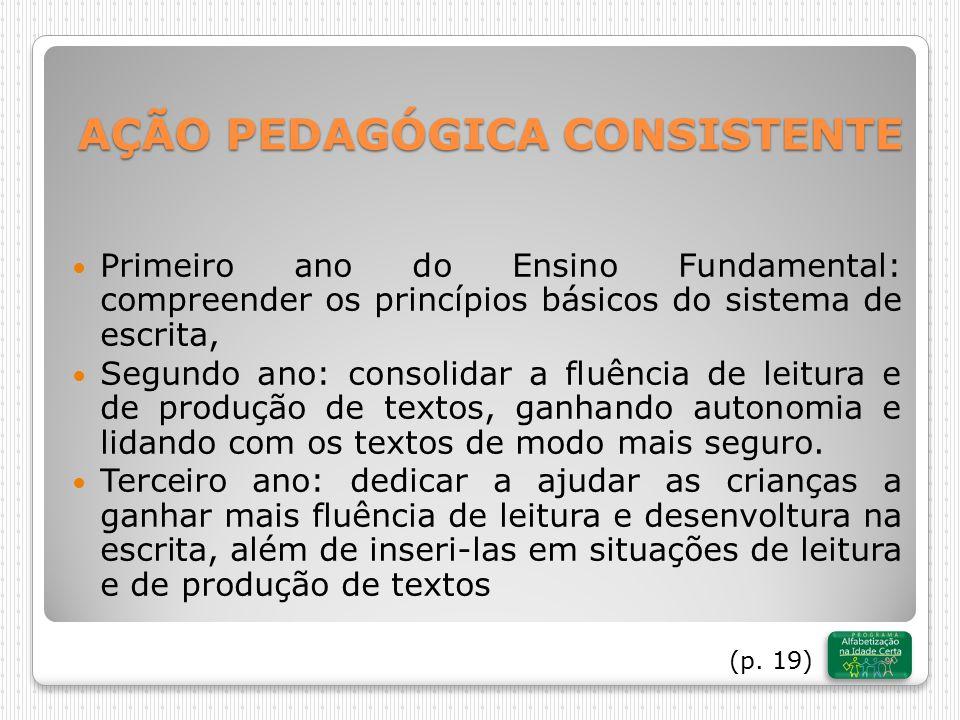 AÇÃO PEDAGÓGICA CONSISTENTE