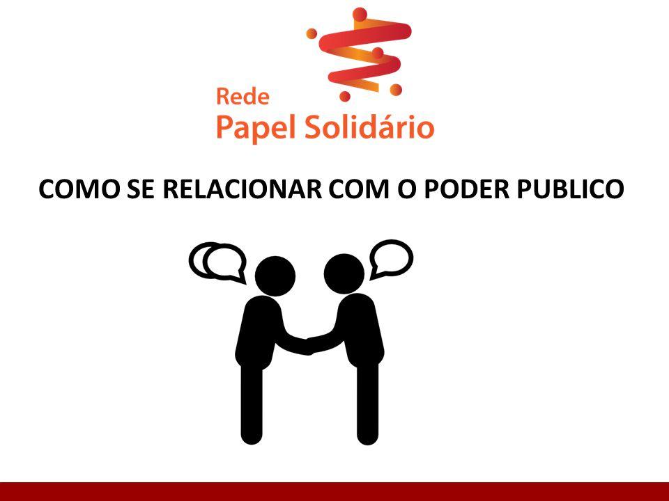 COMO SE RELACIONAR COM O PODER PUBLICO