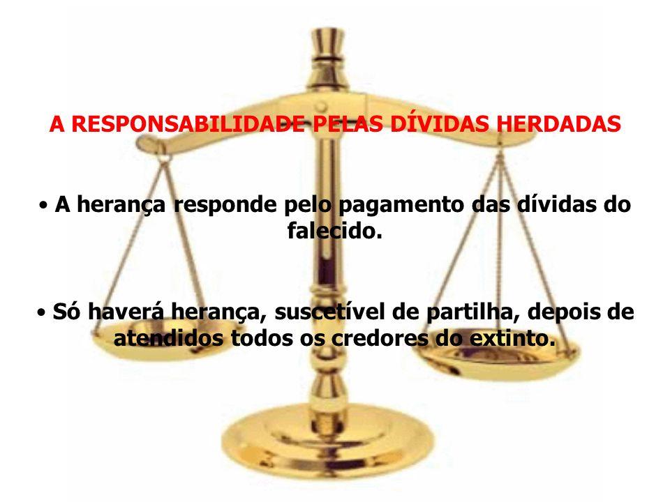 A RESPONSABILIDADE PELAS DÍVIDAS HERDADAS