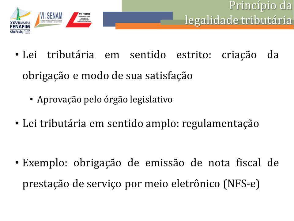 legalidade tributária