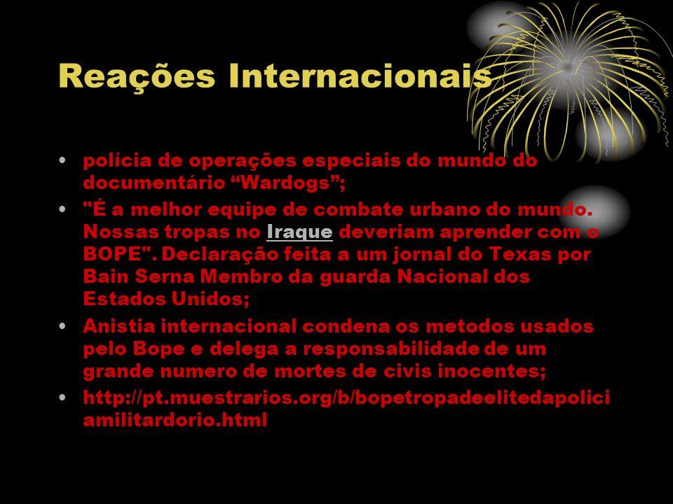 Reações Internacionais