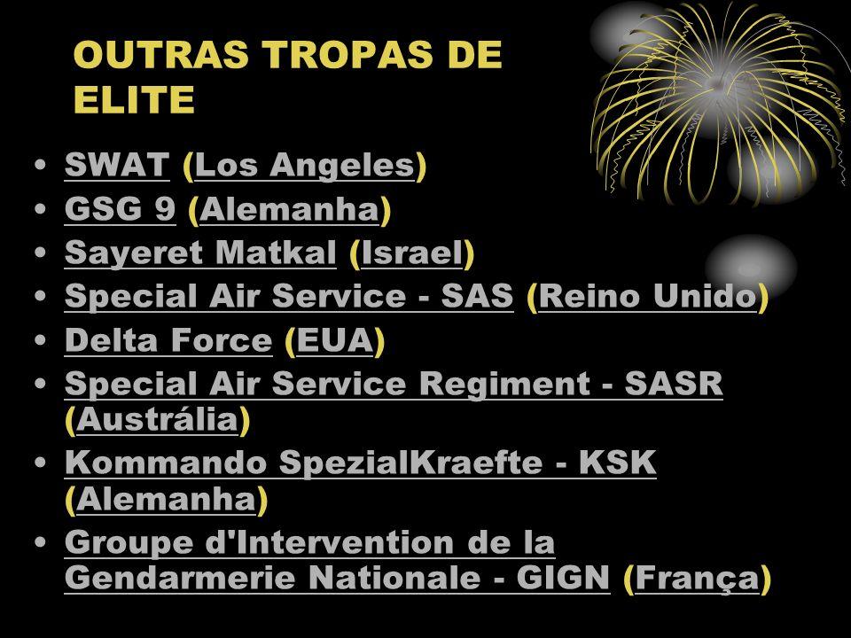 OUTRAS TROPAS DE ELITE SWAT (Los Angeles) GSG 9 (Alemanha)