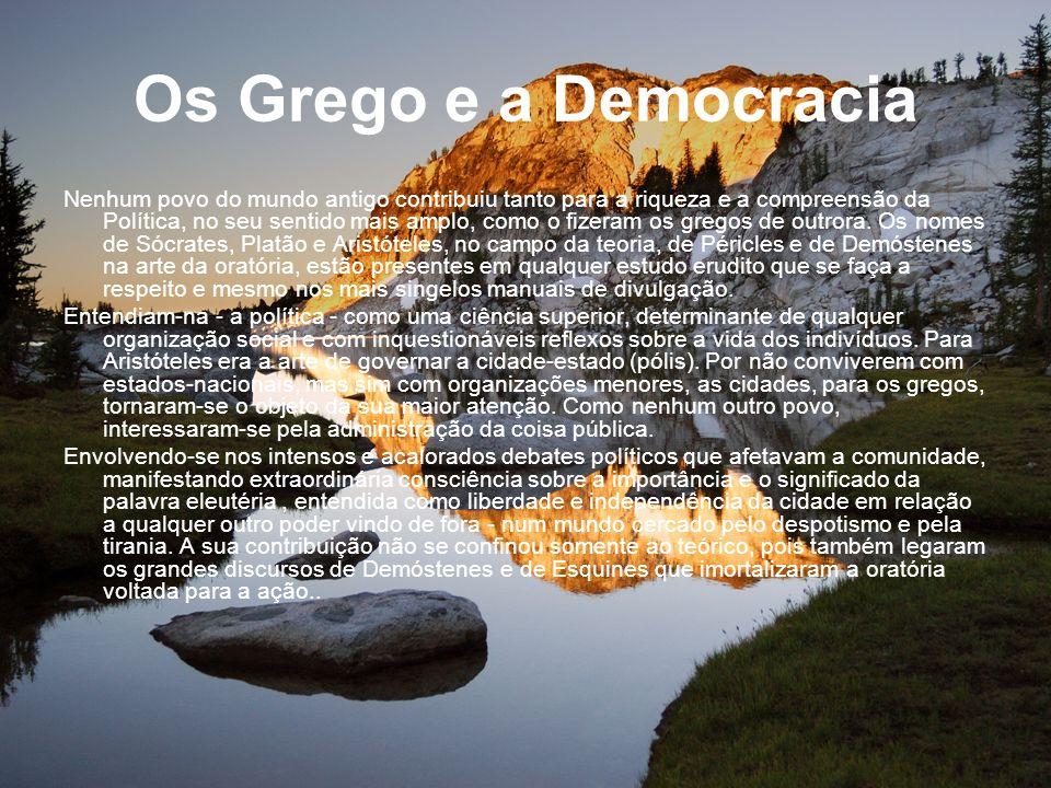 Os Grego e a Democracia