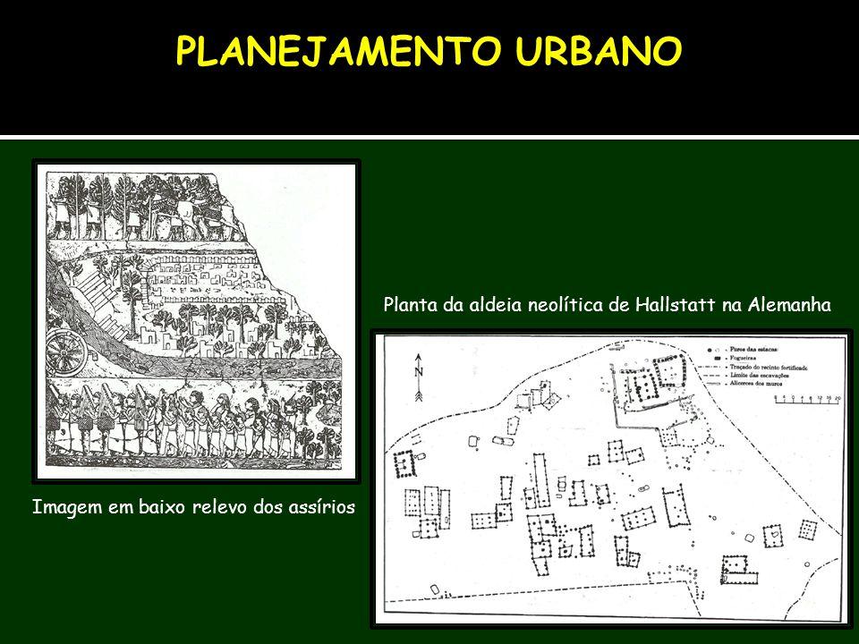 PLANEJAMENTO URBANO Planta da aldeia neolítica de Hallstatt na Alemanha.