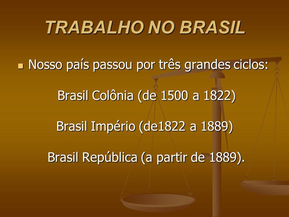 Brasil República (a partir de 1889).