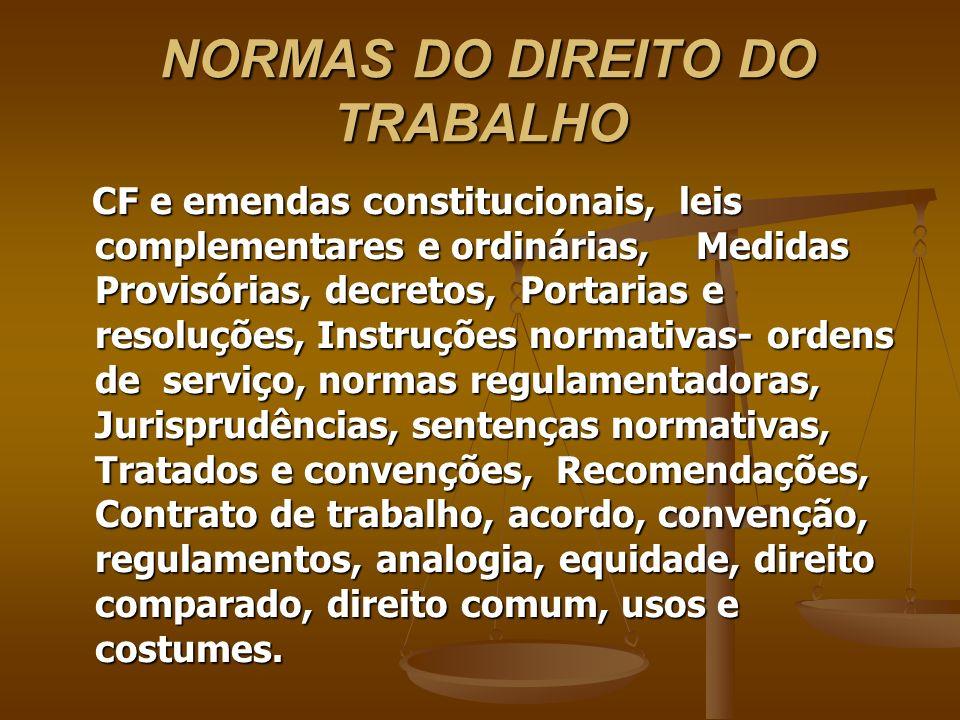 NORMAS DO DIREITO DO TRABALHO