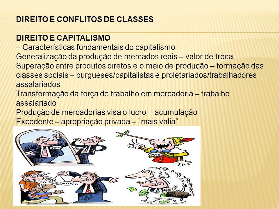 DIREITO E CONFLITOS DE CLASSES