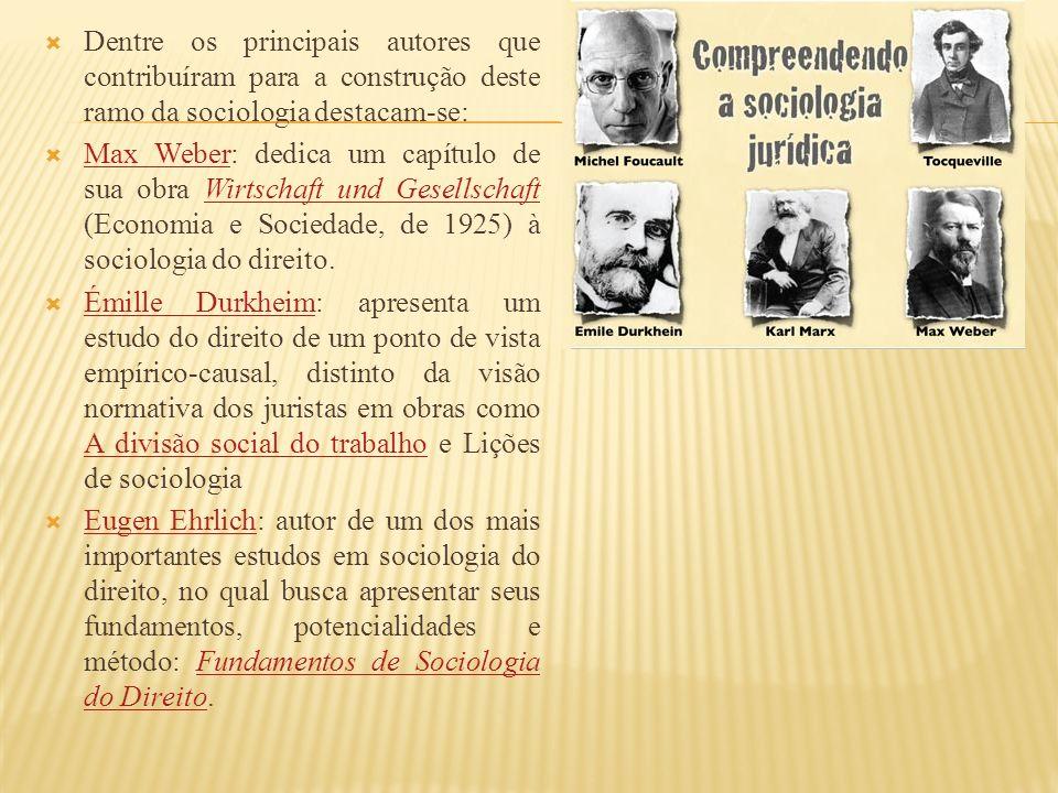 Dentre os principais autores que contribuíram para a construção deste ramo da sociologia destacam-se: