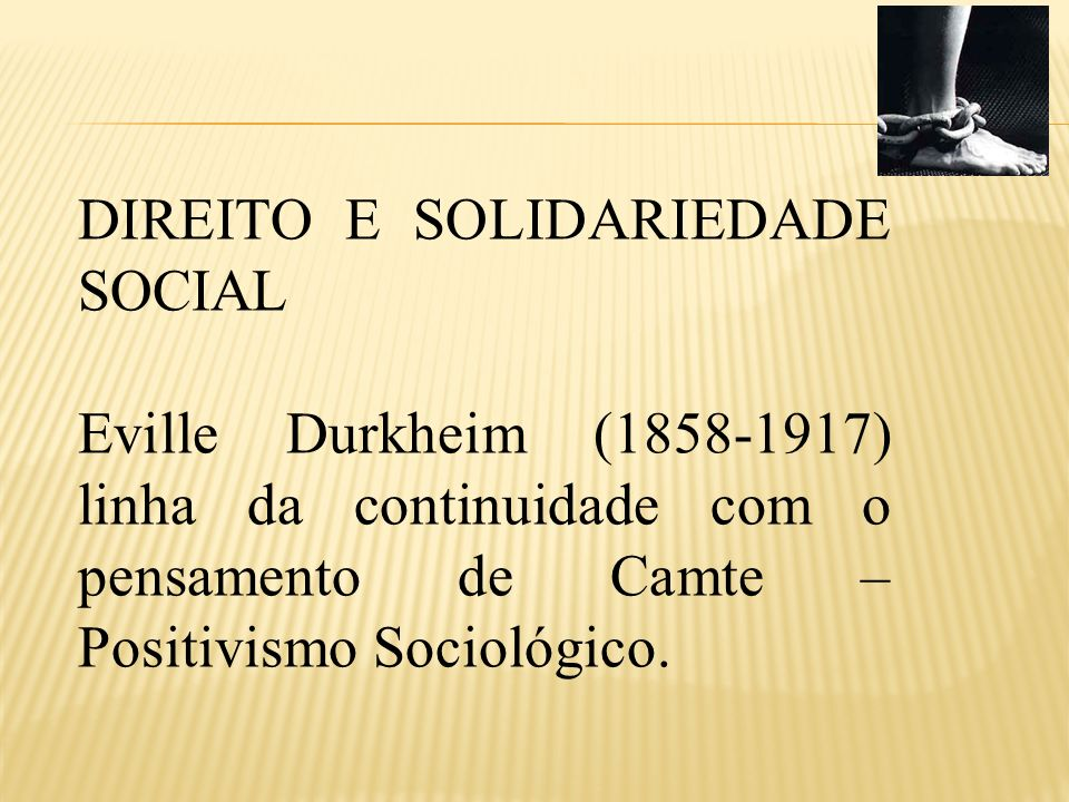 DIREITO E SOLIDARIEDADE SOCIAL