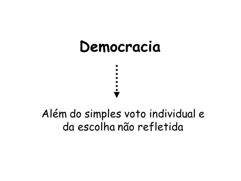 Além do simples voto individual e da escolha não refletida