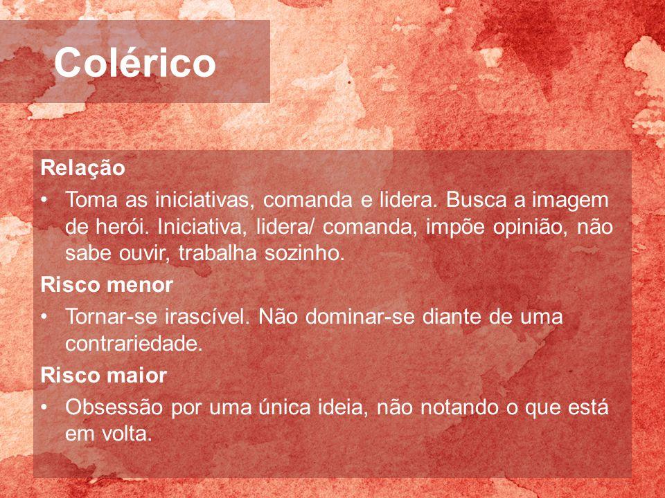 Colérico Relação.