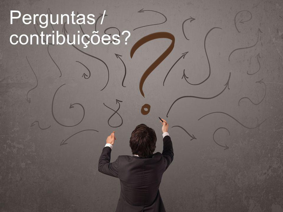 Perguntas / contribuições