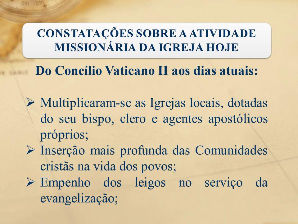 Do Concílio Vaticano II aos dias atuais:
