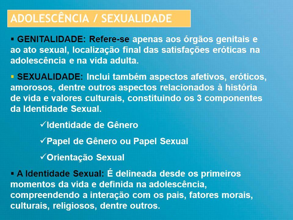 ADOLESCÊNCIA / SEXUALIDADE