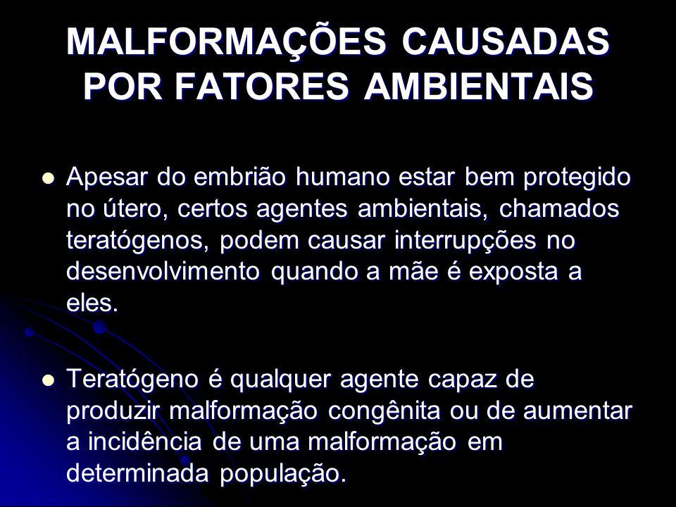 MALFORMAÇÕES CAUSADAS POR FATORES AMBIENTAIS